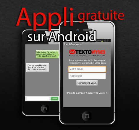 Texto - application smartphone