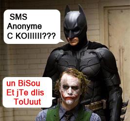 Envoi sms anonyme