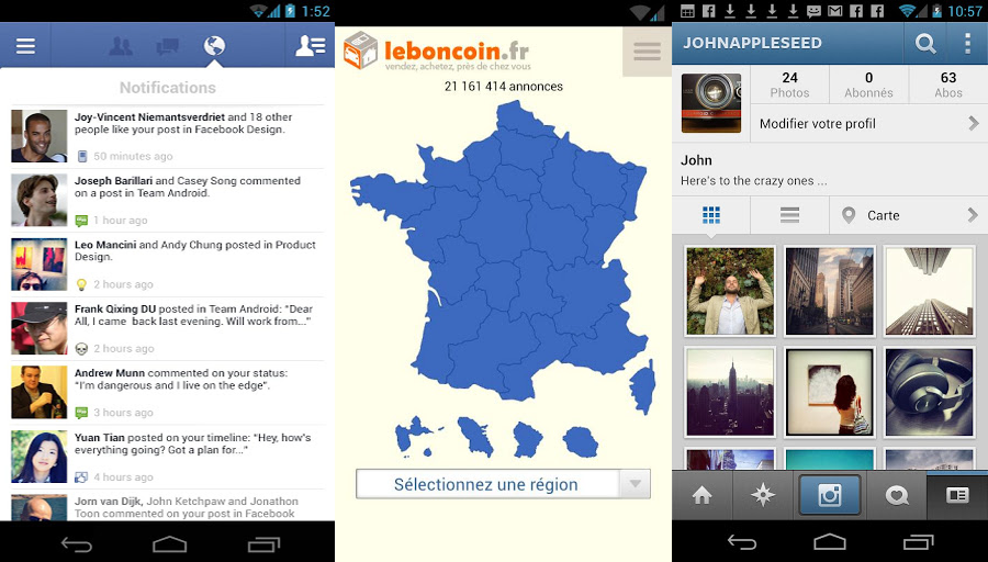 Appli pour android selection 1 1