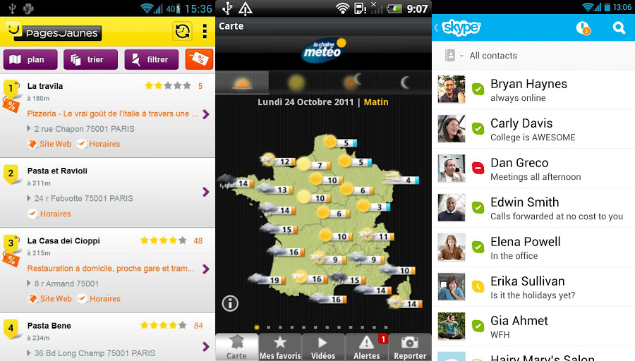 Appli pour android selection 1 2