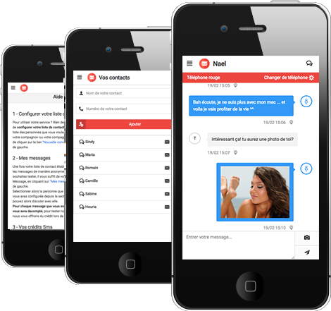 Application android textpnyme - application pour envoyer sms anonyme